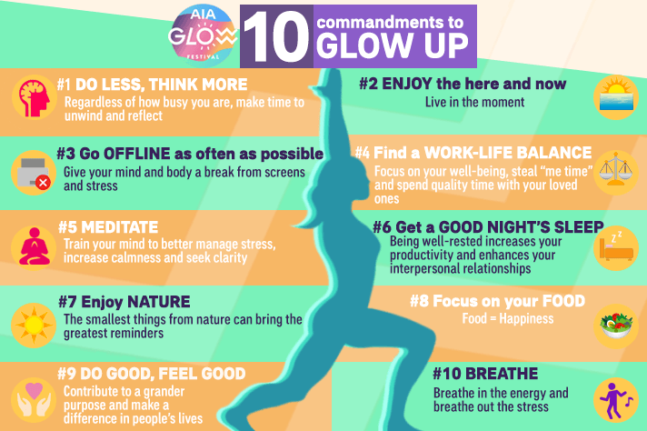 AIA Glow Festival 2019 - 10 commandments to glow up