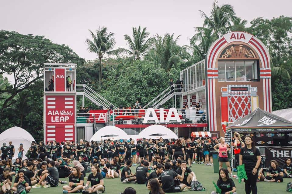 AIA Singapore activities, the music run group photo